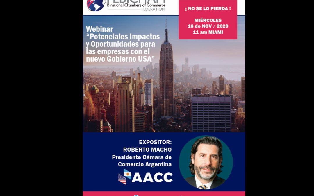 Webinar  18 Nov- Roberto Macho – Potenciales impactos y Oportunidades para las empresas con el Nuevo Gobierno de USA